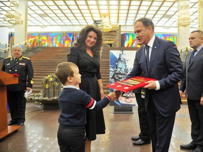 Передача архивов С.Г.Горшкова в музей ВОВ 06.09.2017
